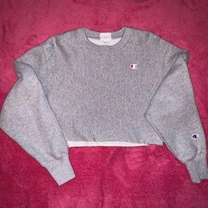 Gray Champion Crop Sweatshirt